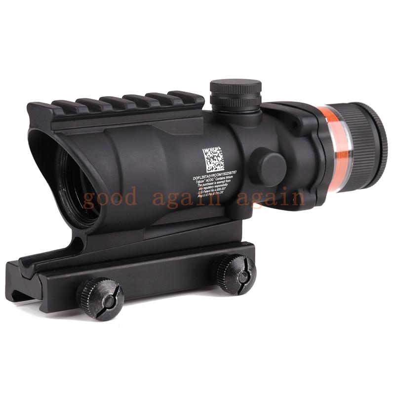 Tactical Trijicon acog style 4x32 rifle scope Red Optical fiber acog style Hunting shooting цены онлайн