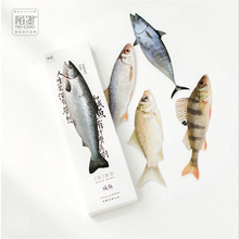 30 Pieces / Box Salted Fish Paper Bookmark Stationery Bookmark Bookcase Message Card School Stationery