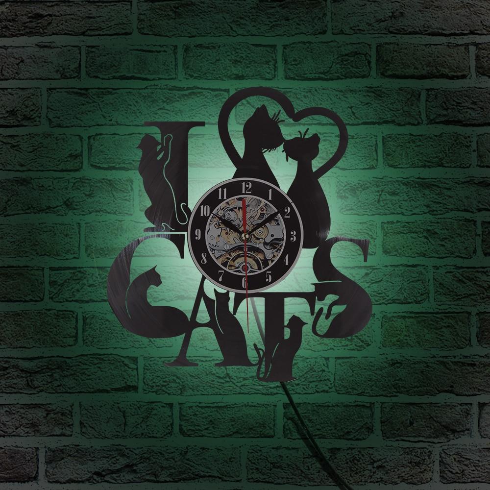 2018 Жаңа келу Винилді жазу уақыты Cat - Үйдің декоры - фото 6