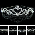 Wedding party pearl crystal wedding princess headband rhinestone pageant tiaras and crowns for brides Girls hair