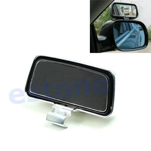 QILEJVS Universal Silver Square Car Vehicle Side Blindspot Blind Spot Mirror Wide Angle View Safety