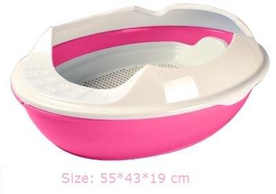 Полузакрытый бассейна кошачьих туалетов домашних животных кошачий Туалет диапазон сосны кошачьих туалетов и т. д. три слоя размеры: 55*43*19 см