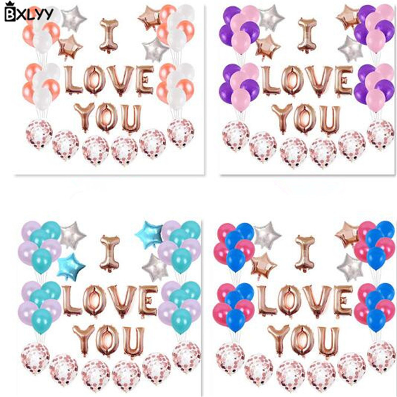 BXLYY Hot16 Inch Rose Gold Aluminum Film Balloon <font><b>8th</b></font> Round Sequin Balloon Valentine's Day Wedding Room Decoration Decoration.8z image