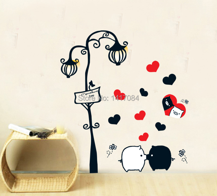 Black And White Kids Room: 2014 New Black And White Pigs Cartoon Kids Room Background