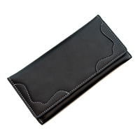 Men High Capacity Long Phone Organizer Wallet Leather Coin Purses Male With
