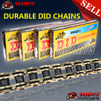 Motorcycle Chain Aftermarket 428, 520, 525, 530 Aftermarket Oil Seal O rings Gold Chain