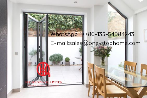 Bi-Fold Glass Door System Smoothly Maximize The Opening Space,high Quality Soundproof Aluminium Folding Doorhome Bi-folding Door