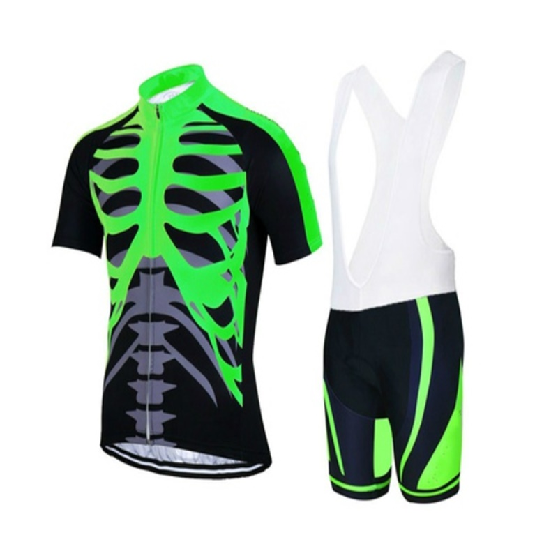 High Quality Cool Skull Style Roupa Ciclismo Cycling Jerseys /Breathable Bicycle Cycling Clothing/Quick-Dry Clothes GEL Pad