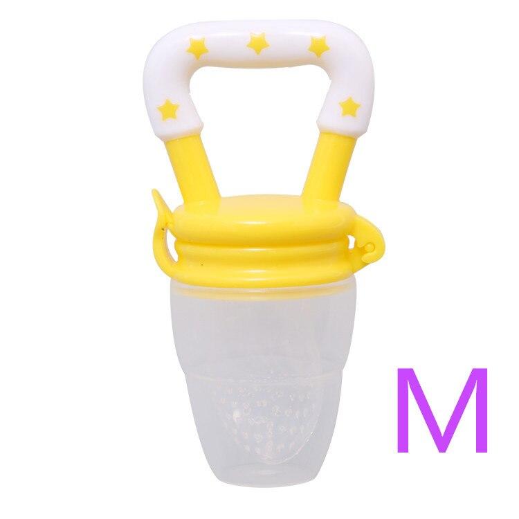Детская соска для свежего питания, соска для кормления детей, соска для кормления фруктов, безопасные соска, бутылочки - Цвет: Myellowish