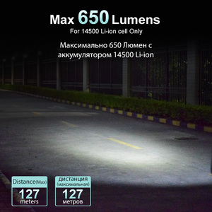 Image 5 - Lumintop Tool AA 2.0 Mini LED flashlight EDC keychain flashlight 3 colors 650 Lumens 127 meters 5 mode 14500/AA flashlight
