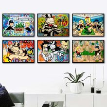 Alec Graffiti Art Prints Rich Dollar Wall Art Canvas Painting Nordic Posters And Prints Wall Pictures For Living Room Home Decor(China)