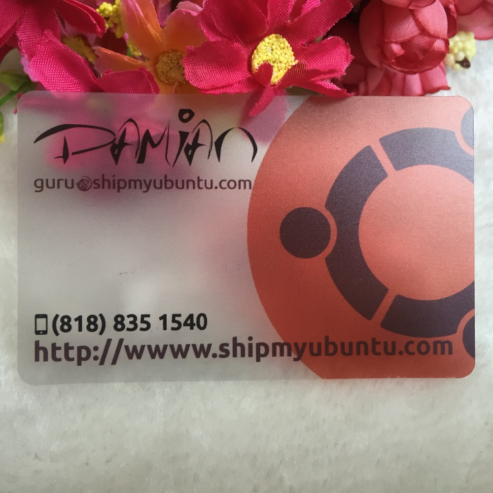 custom transparent PVC business card printing, Free design, custom ...