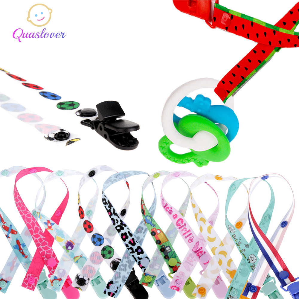 Quaslover เด็ก Pacifier Clip Chupetas Soother Clip Nipple ผู้ถือ Dummy Clip คลิป Pacifier Teether Anti-drop เชือก