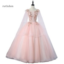 7d837aa78a3dc Prom Dress Flowers Applique Promotion-Shop for Promotional Prom ...