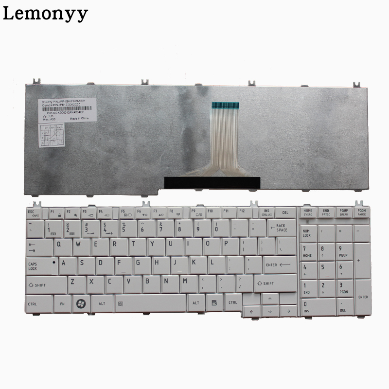 цена NEW US keyboard For toshiba Satellite C655 C650 C655D C660 L650 L655 L670 L675 L750 L755 US White laptop keyboard