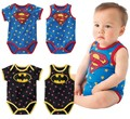 Baby infant Rompers SUMMER batman surperman 100% cotton children clothes