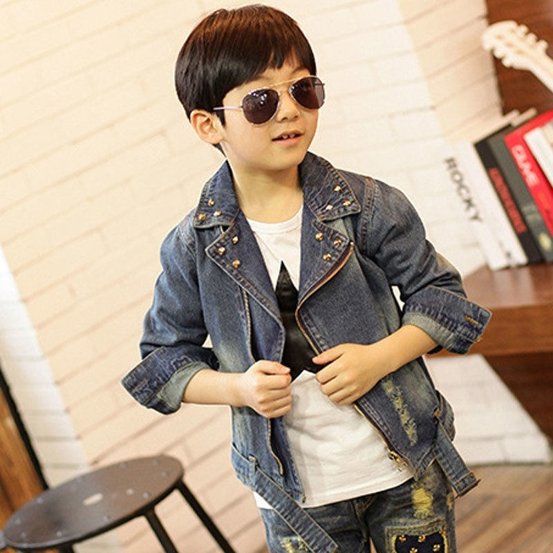 Baby Boys Denim Jacket Cute Fashion Kids Korean Style Coat