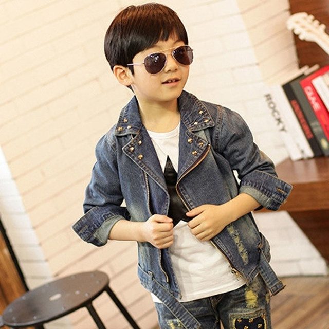 ad94d77ac Baby Boys Denim Jacket Cute Fashion Kids Korean Style Coat Handsome ...