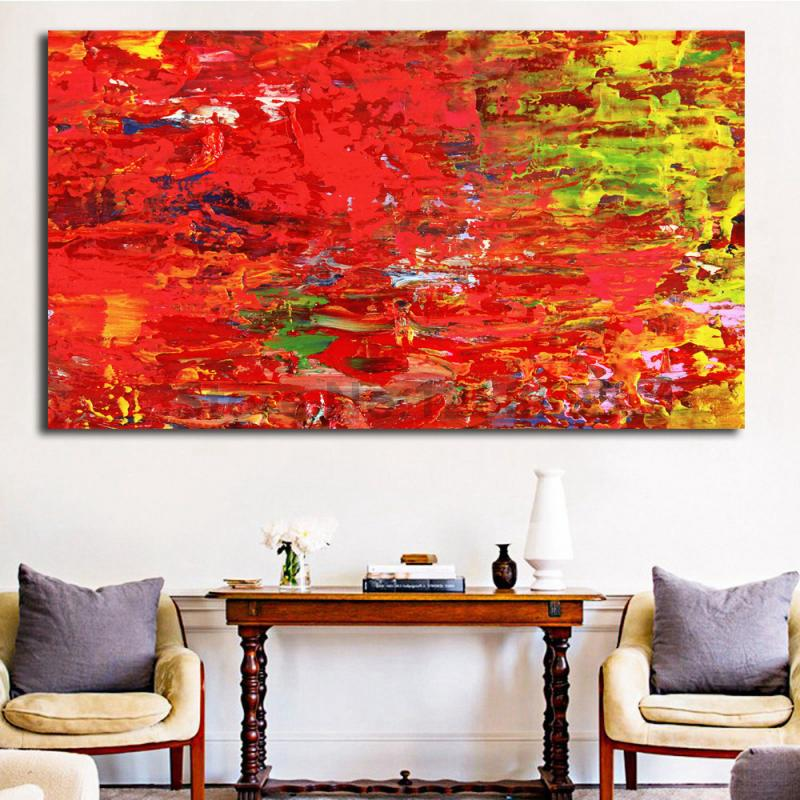 Wallpaper Home Decor Modern: Aliexpress.com : Buy Red And Yellow Abstract HD Wallpaper