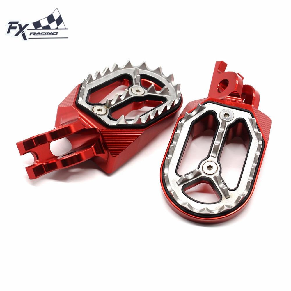 Aluminum CNC Motocross Dirt Pit Bike Foot Peg Pedal Footpegs Footrest For Kawasaki KX450F KLX450 2007-2015 KX 450F KLX 450