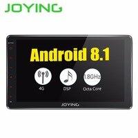 Joying Android 8,1 2 Din автомагнитола 10,1 GPS; стереооборудование для автомобиля 4 + 32 ГБ Универсальный 4 г Цифровой SPDIF головное устройство Zlink WiFi USB Встр