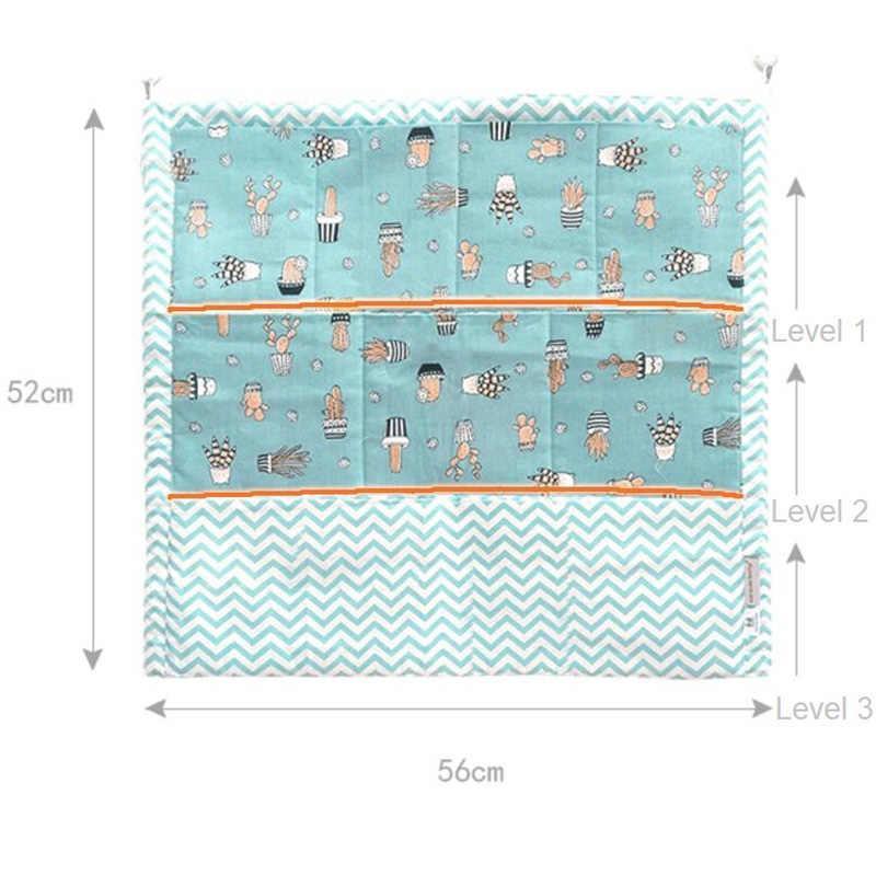 52*56 см муслин дерева, кровать висит сумка для хранения детская кроватка кровать хлопок детские кроватки органайзер для игрушек карман для пеленок для детская кроватка комплект