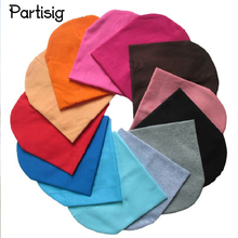 Brand Baby Hat Solid Color Cotton Knitted Baby Boy Caps Baby Girl Beanie Spring Autumn Winter Children's Hats