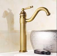 Gratis verzending vintage kraan antieke afwerking messing kranen bad mixer wastafelkranen zilveren antieke zwart golden hot en koud sink
