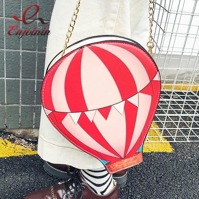 Симпатичные Воздушный Шар Дизайн Мода PU Девушки Повседневная сумка Сеть Кошелек Женская Crossbody мини-сумка-мессенджер сумка закрывается клапаном