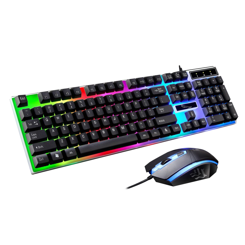 G21 Filaire Gaming Clavier Souris Combo Mécanique Rétro-Éclairé Optique 104 Touches Clavier Souris Ensemble Pour Dota2 LOL Ordinateur Portable Gamer fortnite