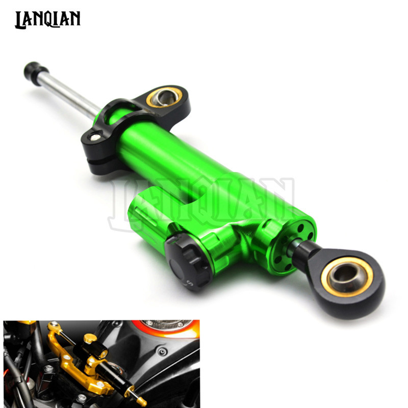 Universal Motorcycle Accessories Damper Stabilizer Damper Steering Reversed Safety Control For Kawasaki z800 z750 z1000 Ninja250 motorcycle accessories universal steering damper stabilizer new 4 colors