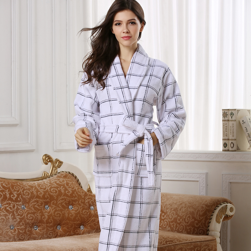 f4cb3af92a Hilift 100% cotton bathrobes toweled lovers cotton bathrobe thickening robe-in  Robes from Underwear   Sleepwears on Aliexpress.com