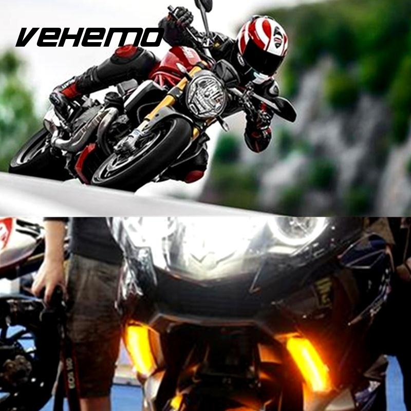 Vehemo 2 Pin Motorcycles LED Flasher Relay For Motorbikes Turn Signal Bulbs Flash