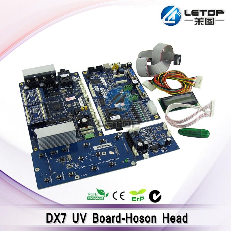 hoson print control board for double dx7 head uv flat printer все цены