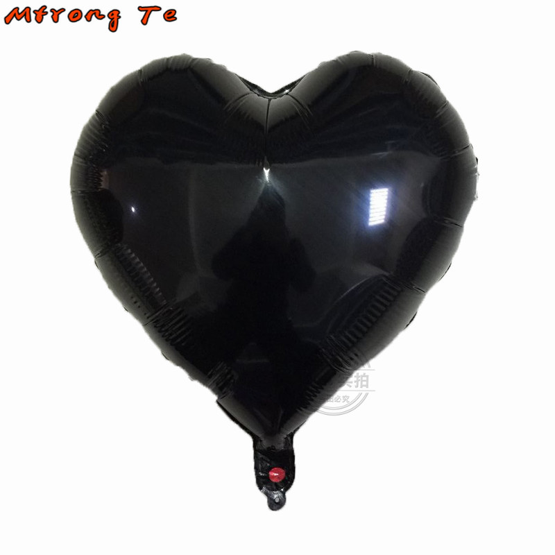 7pcs 18inch black white Foil helium Balloons pure color for birthday party creative weeding decora balloons suppliers Mtrong Te