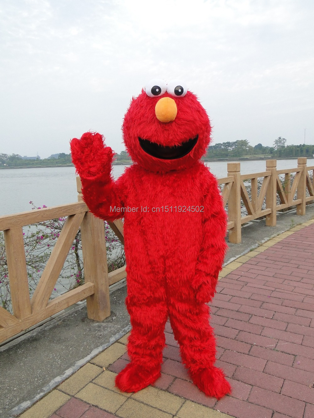 High Quality Long Hair Elmo Mascot Kostume Tegn Kostume Cartoon Costume Costume Mascot