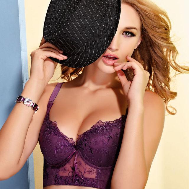 0f6c862502fcf Sale sexy lace cotton push up bra women bra large plus size 34C 36C 38C 40C B  C cup intimate brassiere underwear