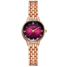 Luxury Rose Gold Women Watch Minimalism Fashion Ladies Clock High-grade Quartz Small Crystals Wristwatch Relogio Feminino
