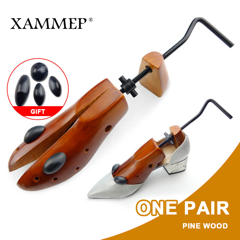 Shoe Tree 1 Pair Wooden Shoe Stretcher For Men and Women Genuine leather Shoes Adjustable Expander shoes Width and height Xammep shoe tree 1 pair wooden for genuine leather shoe winter boots women shoes boots stretcher shape keeper adjustable width xammep