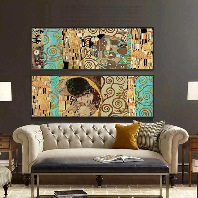 k nstler gustav klimt der kuss und wohnkultur wandkunst poster malerei poster und drucke. Black Bedroom Furniture Sets. Home Design Ideas