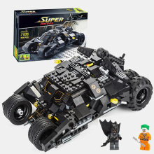 SLPF Batmobile Car Joker Legoing Assemble Model Building Blocks Brick Educational Toys For Children Kids Christmas Gift New K04