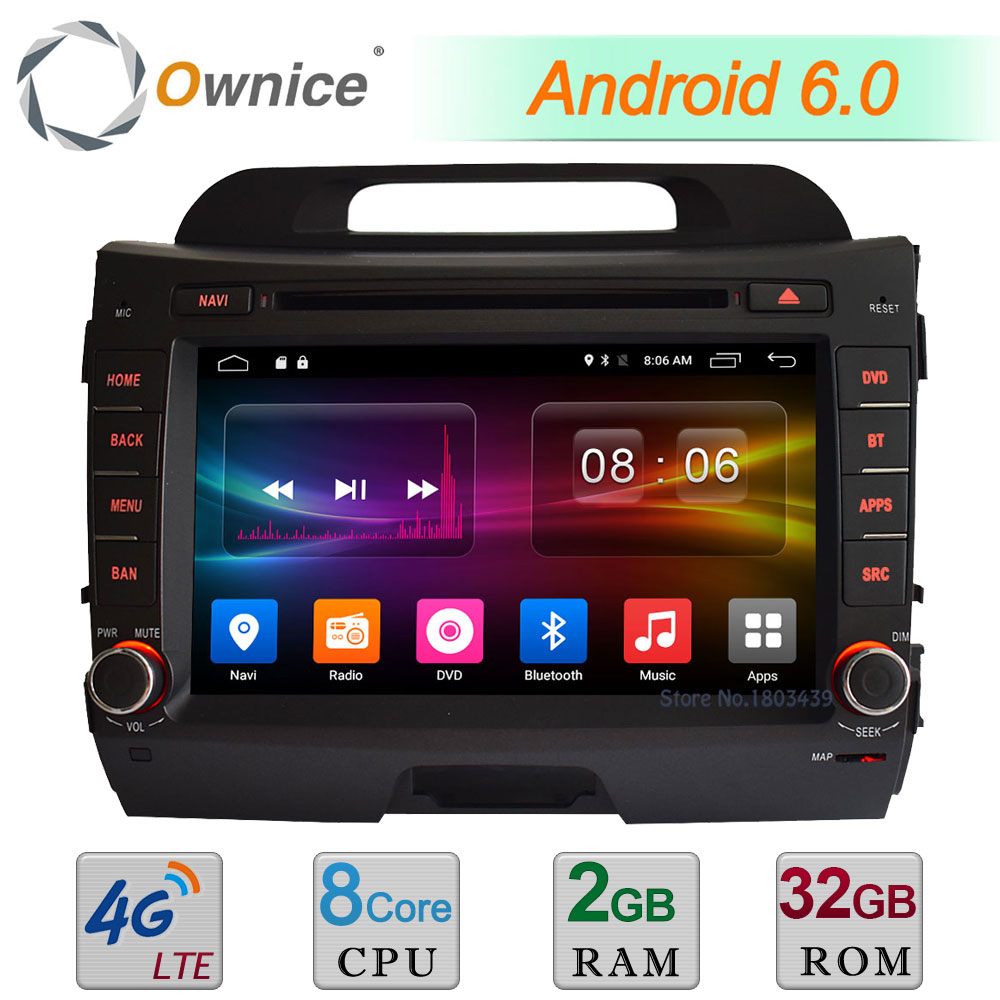 2Din 2GB RAM 32GB ROM 8 Android 6.0 Octa Core 4G WIFI DAB USB AUX FM Car DVD Radio Stereo Player For Kia Sportage R 2011-2015
