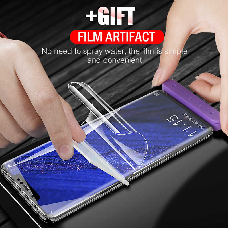 9D Full Cover Soft Hydrogel Film For Huawei Mate 20 P30 P20 Pro Lite Screen Protector Film For Honor 9X 8X 10 20 Pro Not Glass