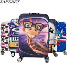 SAFEBET Бренд тележки чемодан Защитить Пылезащитный чехол Детские мультфильм Путешествия Ков Упругие багажа Защитная крышка для 19-32 дюйма
