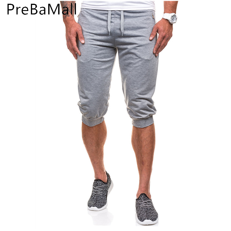 2019 Summer Fitness Running Shorts Pants Clothing Fashion Boardshorts Calf-Length Breathable Joggers Workout Shorts For Men A14