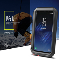 LOVE MEI Life Waterproof S8 Case Powerful Luxury Doom Metal Armor Shock Proof Aluminum Coque Case