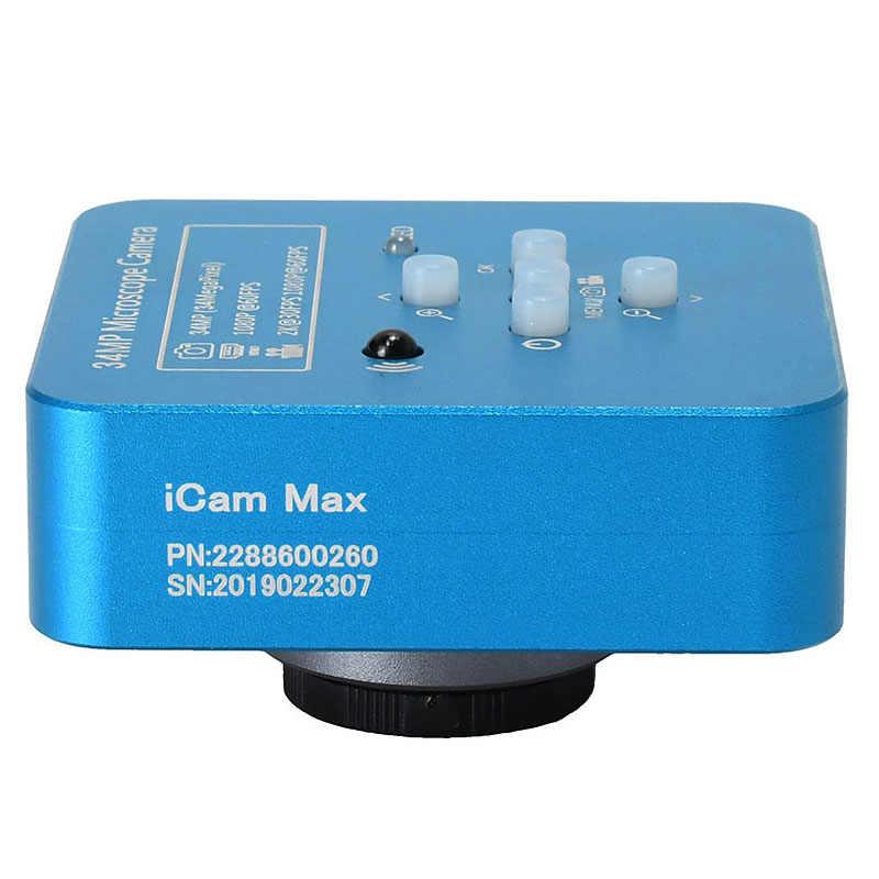 34Mp 2K 1080P 60Fps HDMI USB อุตสาหกรรมวิดีโอดิจิตอลอิเล็กทรอนิกส์ Soldering กล้องจุลทรรศน์แว่นขยายกล้องสำหรับโทรศัพท์ Pcbtht Repari