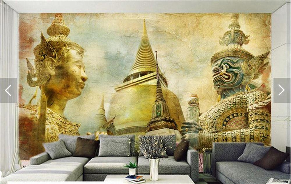 Wonderful Custom Photo Wallpaper/3d Non Woven Wallpaper/India Style Nostalgia  Mural/TV/sofa/bedding Room/KTV/Hotel//Children Room In Wallpapers From Home  Improvement ...