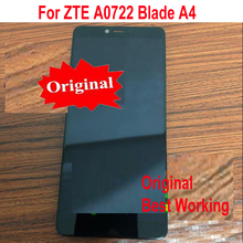 "Original Best Working LCD Display Touch Screen Digitizer Assembly Sensor with Frame For ZTE A0722 Blade A4 5.45"" Phone Parts"