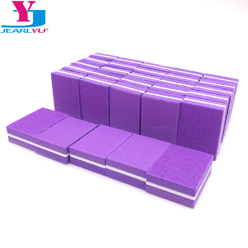 50 Pcs/lot Sponge Nail File Buffer Block Double Side Mini Strong Lima A Ongle Professional Nail Files Manicure Tools Accessories